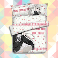 Anime Cartoon yosuganosora Quilt Cover Soft Printed Bedding Set With Pillow Cases Bed Sheet Duvet Cover Set No.CP151228