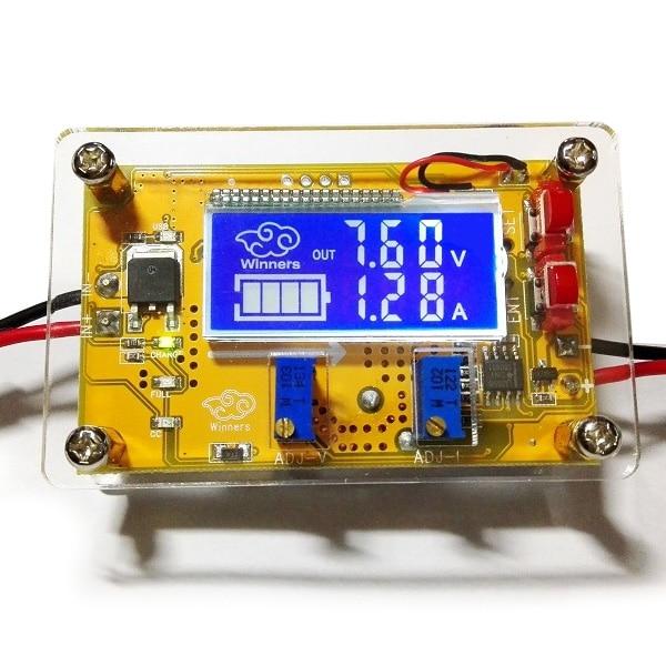 5A DC-DC Passo Ajustável Para Baixo Módulo de fonte de Alimentação de Tensão Constante Atual Dual Screen Display LCD de Alta qualidade