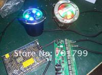 6 * 1 вт RGB из светодиодов свет из позе, д120 * h105mm; dc12 с-24В вход, можно управлять с помощью общего регулятора РГБ или по DMX декодер