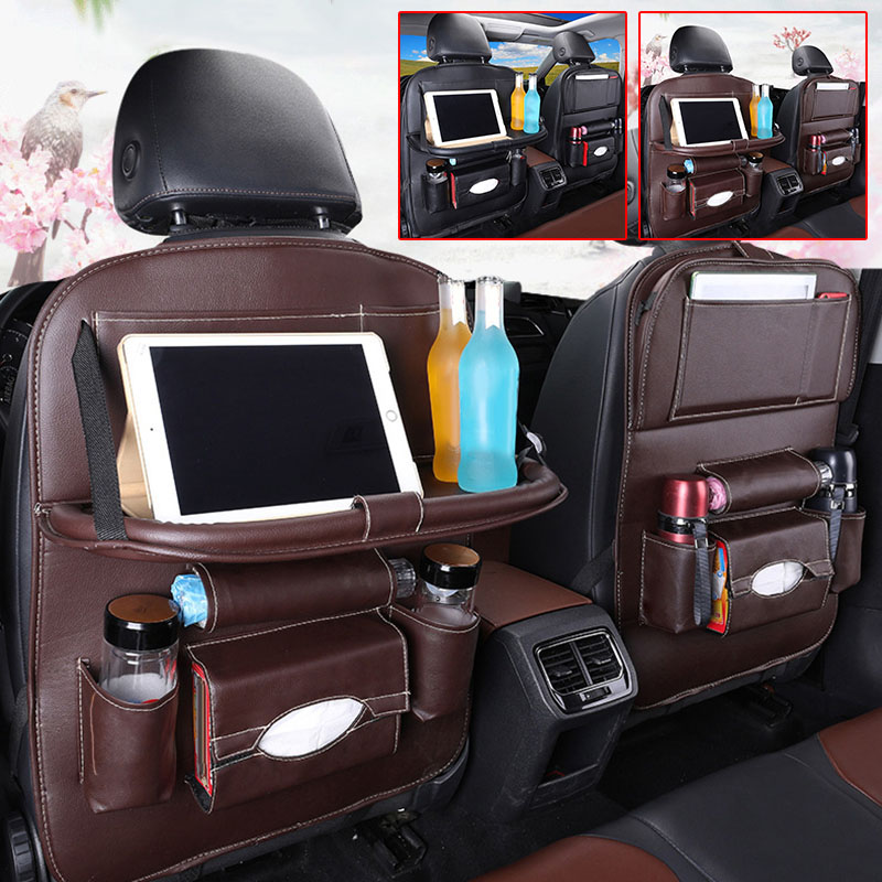 Image 3 - Car Back Seat Organiser Folding Table Tablet Drinks Laptop Holder Storage Gifts-in Stowing Tidying from Automobiles & Motorcycles