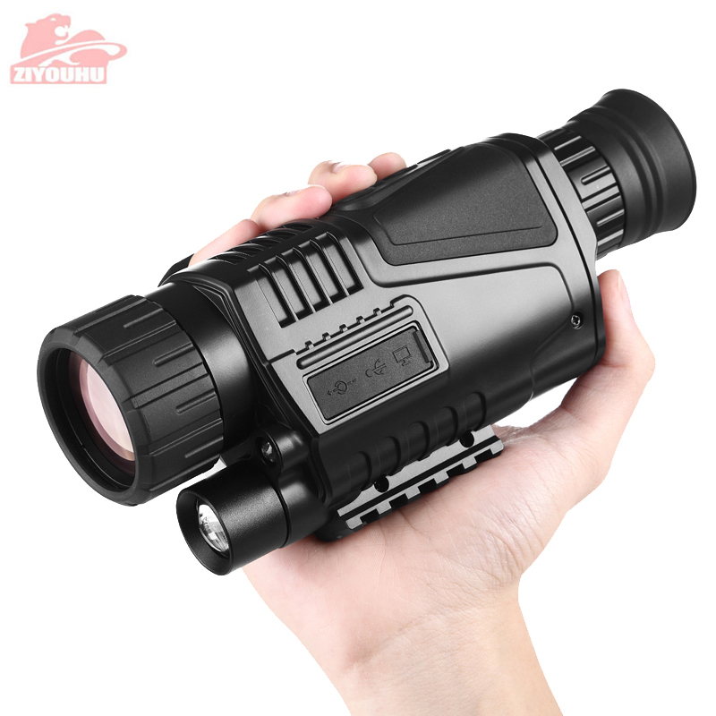 ZIYOUHU 5X Zoom Infrared Digital Night Vision Hunting Scope Monocular Telescope Camera Image Video Recording  Day and Night Use optical instrument