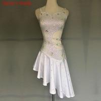 Профессиональное изготовление на заказ, платье для латинских танцев с бриллиантами, платье для латинских танцев, женские юбки для самбы