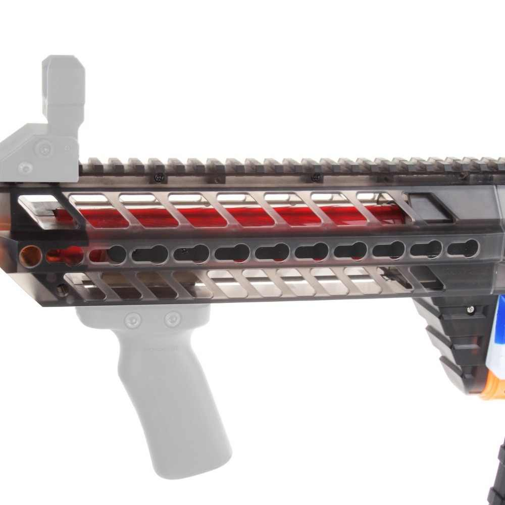 3D Afdrukken Modulaire Modieuze Stijl Hoge Sterkte Plastic Mod Zwarte Pomp Kits Combo 5 Items Voor Nerf RETALIATOR Speelgoed