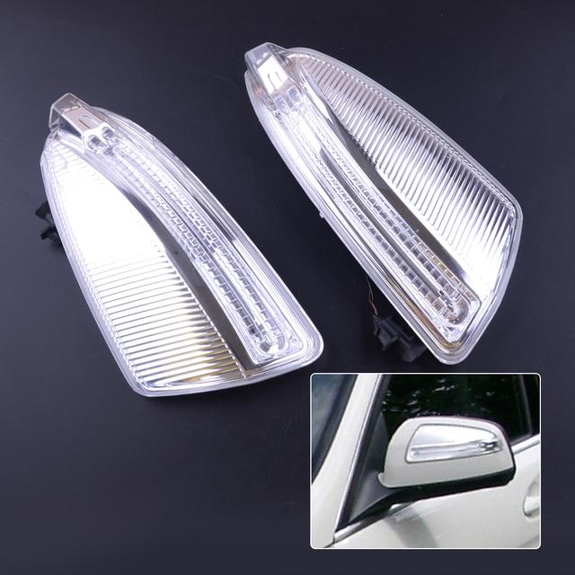 beler 1 Pair Door Rear Mirror Turn Signal Yellow Light Fit For Mercedes W204 C250 C300 C350 C63 2048200821 A2048200821