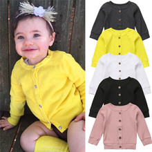 Baby Girl Boy Sweater Cardigan Button Clothes