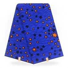 Star print Blue african prints wax fabric,african fabric  wax print ankara wax fabric for African dresses YBGHL-20-2 3pcs set green african ankara tote bag clutch bag and african wax prints fabric wax for wedding dfb 7