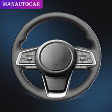 Car Braid On The Steering Wheel Cover for Subaru Forester 2019 Ascent Crosstrek 2018-2019 Impreza Outback 2018-2020 Auto