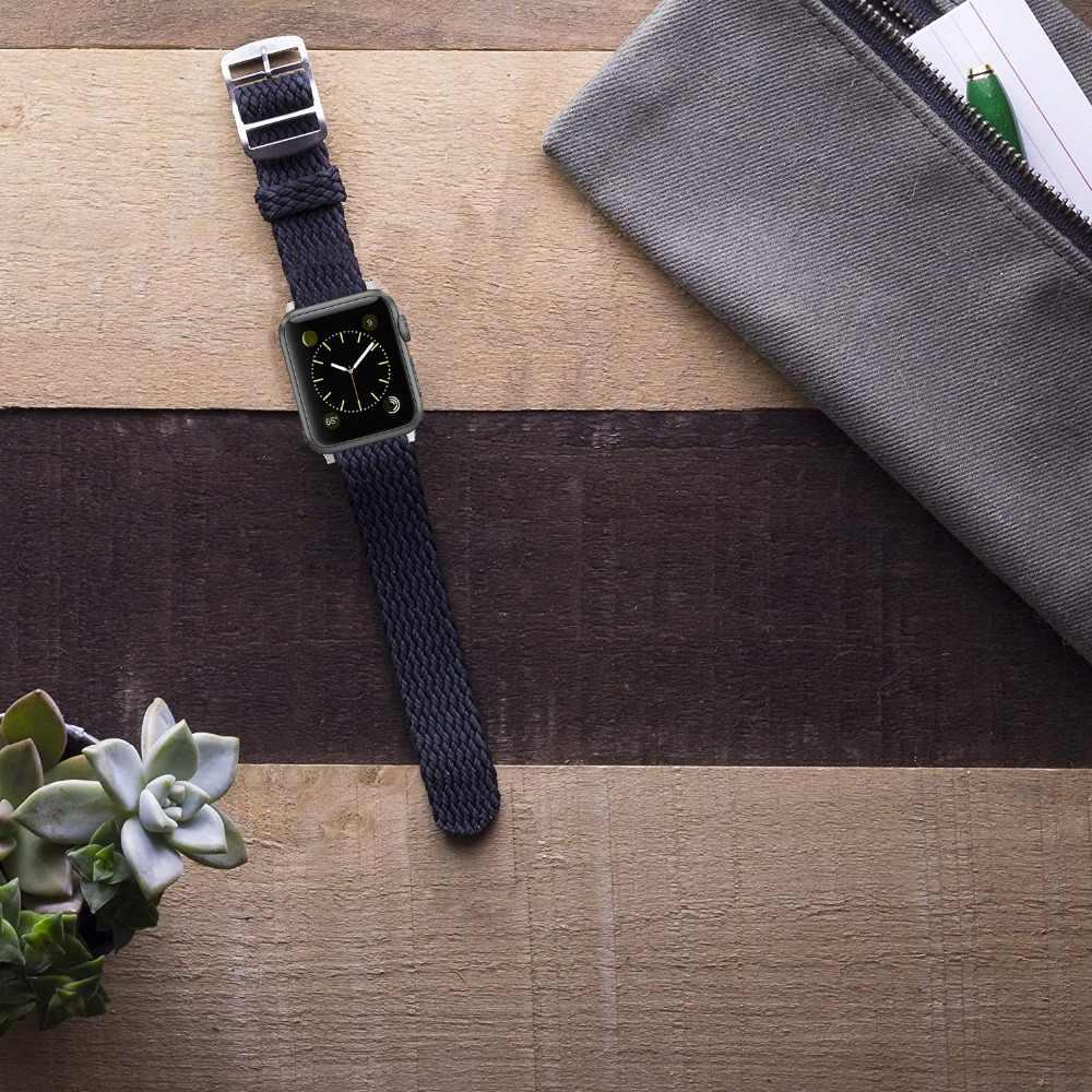 Morbido E Traspirante In Nylon Poliestere Serie Cinturino del Cinturino di Vigilanza per Apple 4 3/2/1 di Sport Della Cinghia Del Braccialetto per iwatch 4 Band 40 millimetri 44 millimetri