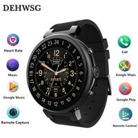 DEHWSG MTK6580 I6 MAX Bluetooth Smartwatch GPS 2 GB + 16 GB Android 5.1 Relógio Inteligente 3G Rede WiFi Freqüência Cardíaca Relógio do cartão do SIM