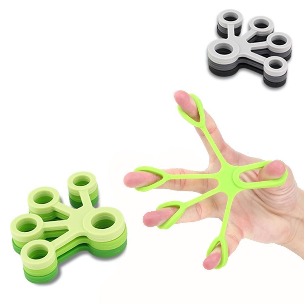 4x Finger Forearm Strengthener Rubber Grip Massage Ring Hand Gripper 20-50LB