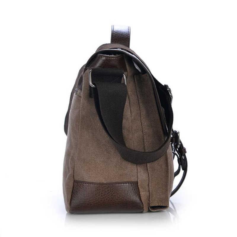 b32af998b063 ... 2019 Retro Men Briefcase Business Shoulder Bag Canvas Messenger Bags  Man Handbag Tote Bag Casual Travel ...