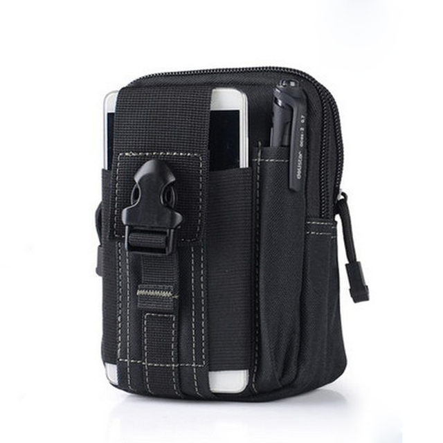 Survival D006 Tactical Waist Pouch Bag | For Mobile Phones, Tools, Pen, and Gadgets