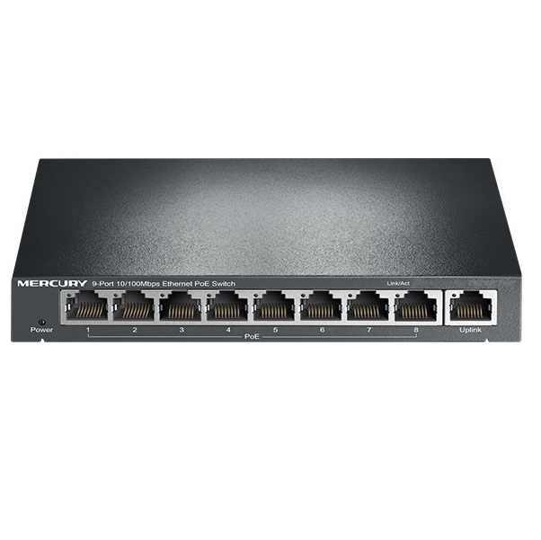 8 Порты 10/100 Мбит/с POE коммутатор Сталь PoE AP мониторинга стандартный IEEE 802.3af для IP