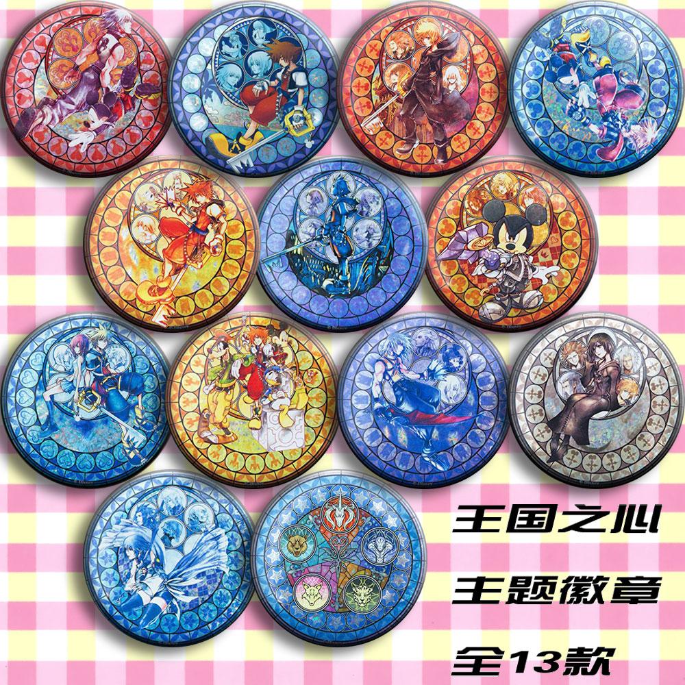 Anime Kingdom Hearts Sora Riku Kairi Ventus Aqua Cosplay Garniture Collect Bag Badge For Backpack Button Brooch Pin Xmas Gifts