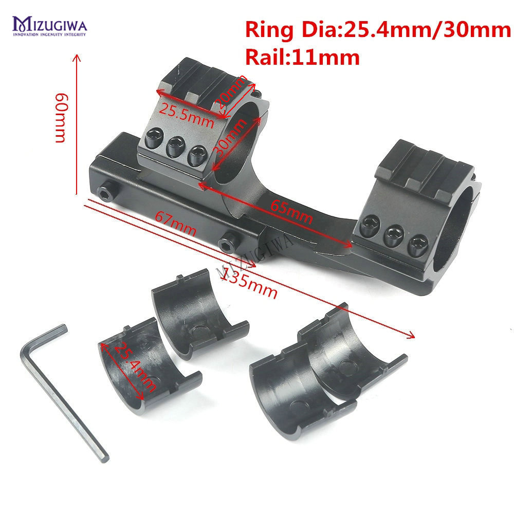 Heavy Duty Cantilever Weaver Forward Reach Scope Mount  30mm / 1 Inch Ring Rifle Optics 11mm Dovetail Picatiiny Rail Pistol