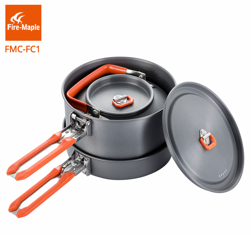 Fire Maple Outdoor Camping Fottur Cookware Backpacking Camping Verktøy Cooking Picnic Frypan Set Foldable Feast Cuisiner 1 FMC-FC1