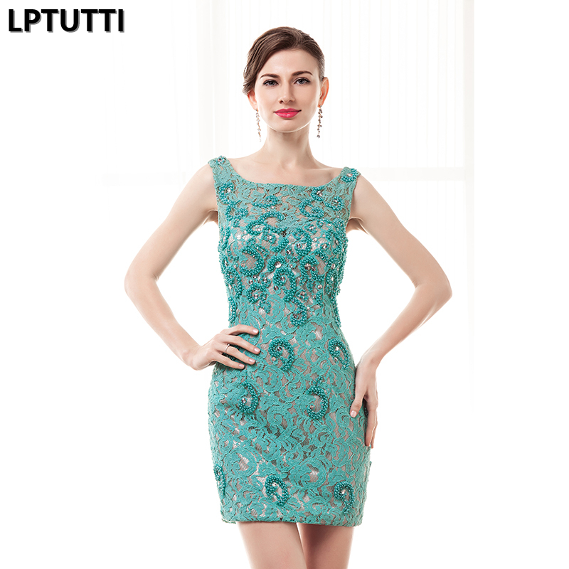 LPTUTTI Beading Lace New Sexy Woman Plus Size Social Festive Elegant Formal Prom Party Gowns Fancy Short Luxury Cocktail Dresses