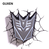GuxenTransformer Autobots Decepticons 3D Creative Mood Lamp Color Change Night Light Child Kids Bedroom Deco Boys Xmas Gifts