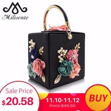 6fba34a81197 Milisente для женщин вечерняя сумочка; BS010 дамы цветок свадебные клатчи  женский розовый черный клатч кошелек