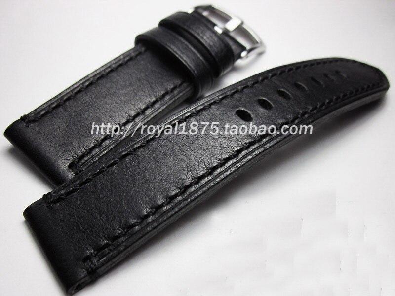Haute qualité Italie En Cuir Véritable Bracelet de Montre 18mm 19mm 21mm 22mm Bracelet de Montre Noir Bracelet de Montre hamilton Mido Longines Seiko