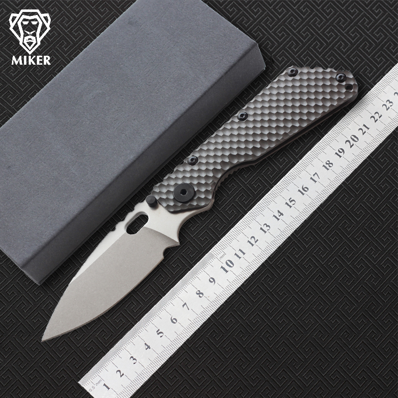 MIKER SMF Folding Knife D2 blade Titanium handle Copper washer kitchen camping hunting outdoor fruit Knives