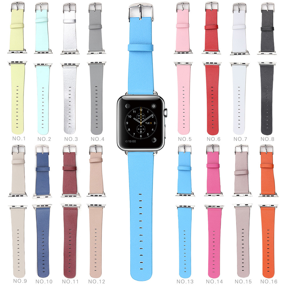 Fashion Solid Color WatchBand For Apple Watch 38mm/ 42mm