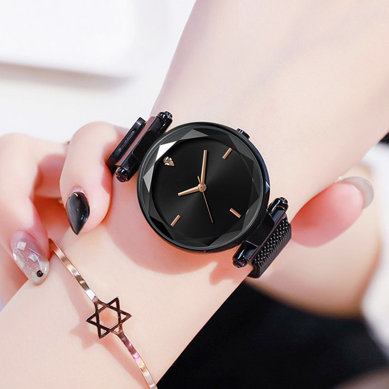 Women 39 s Watches Magnetic Starry Sky Quartz Wristwatch Fashion Ladies Gold Bracelet Wrist Watch 2019 reloj mujer relogio feminino in Women 39 s Watches from Watches