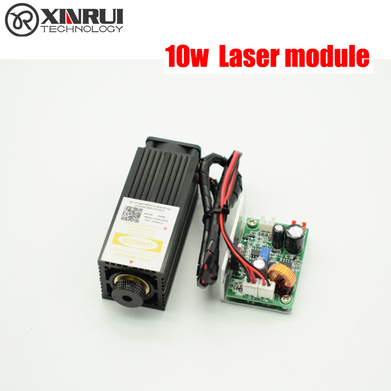 10w high power 450NM focusing blue laser module laser engraving and cutting TTL module 10000mw laser tube+laser protect goggles high performance 500x300mm low price laser cutting and engraving