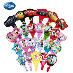 Disney Figures Balloons Mickey Minnie Kids Birthday-Toys Foil Gift Racing-Car Baby 18inch