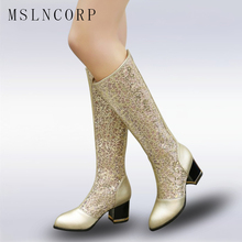 Size 34-43 2018 NEW Women Summer Boots Fashion Mesh Gladiator Sandals Female Knee High Boots Mujer Breathable Zip Sexy Lace Boot недорого