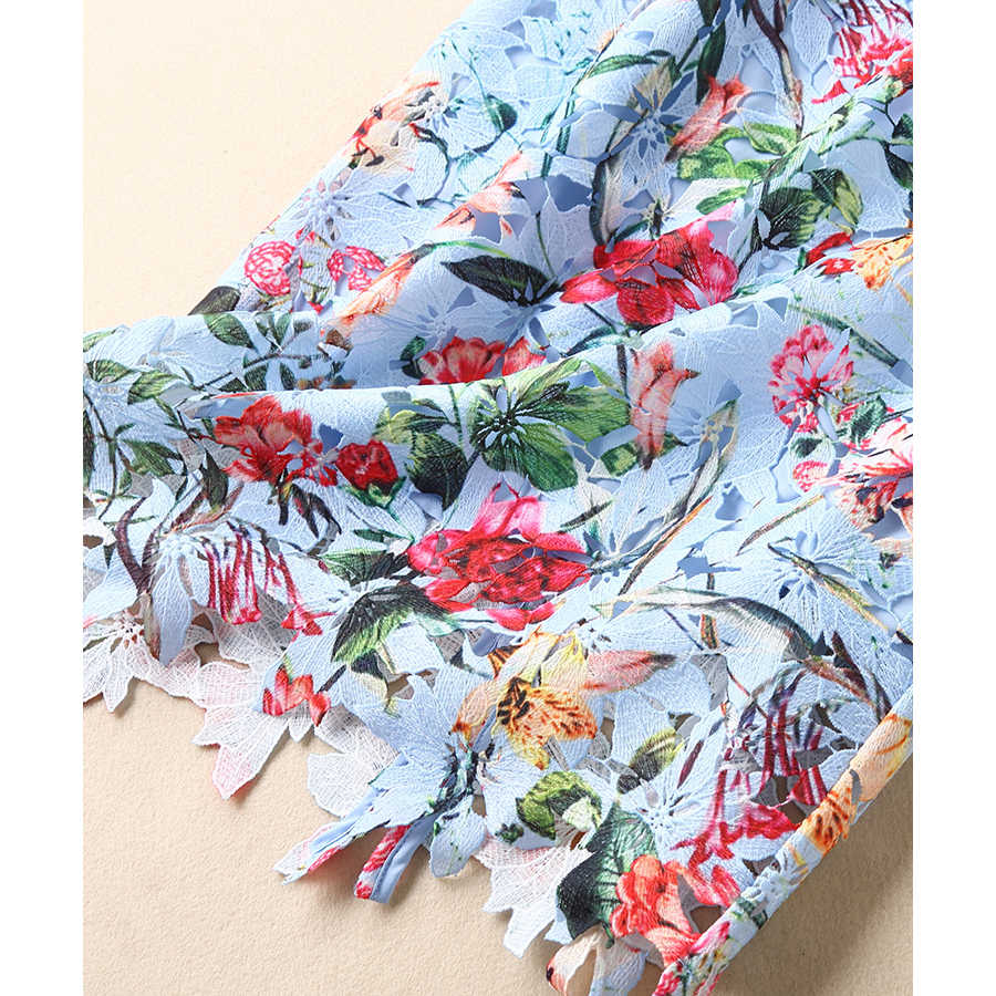 fa1e56a7509d6 SEQINYY Floral Dress Printed Early Spring New Fashion High Quality Short  Sleeve Slim Hollow out Lace Summer dress 2019