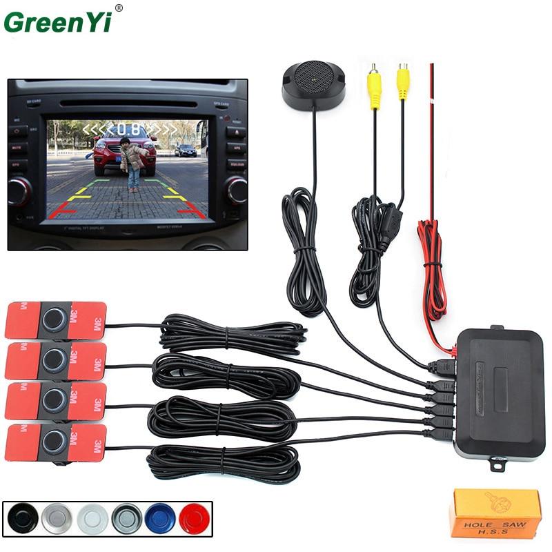 Парковка Сенсор Авто Обратный резервного Антирадары Системы 13 мм оригинальный плоский Датчики можно подключить автомобильный DVD Мониторы ...