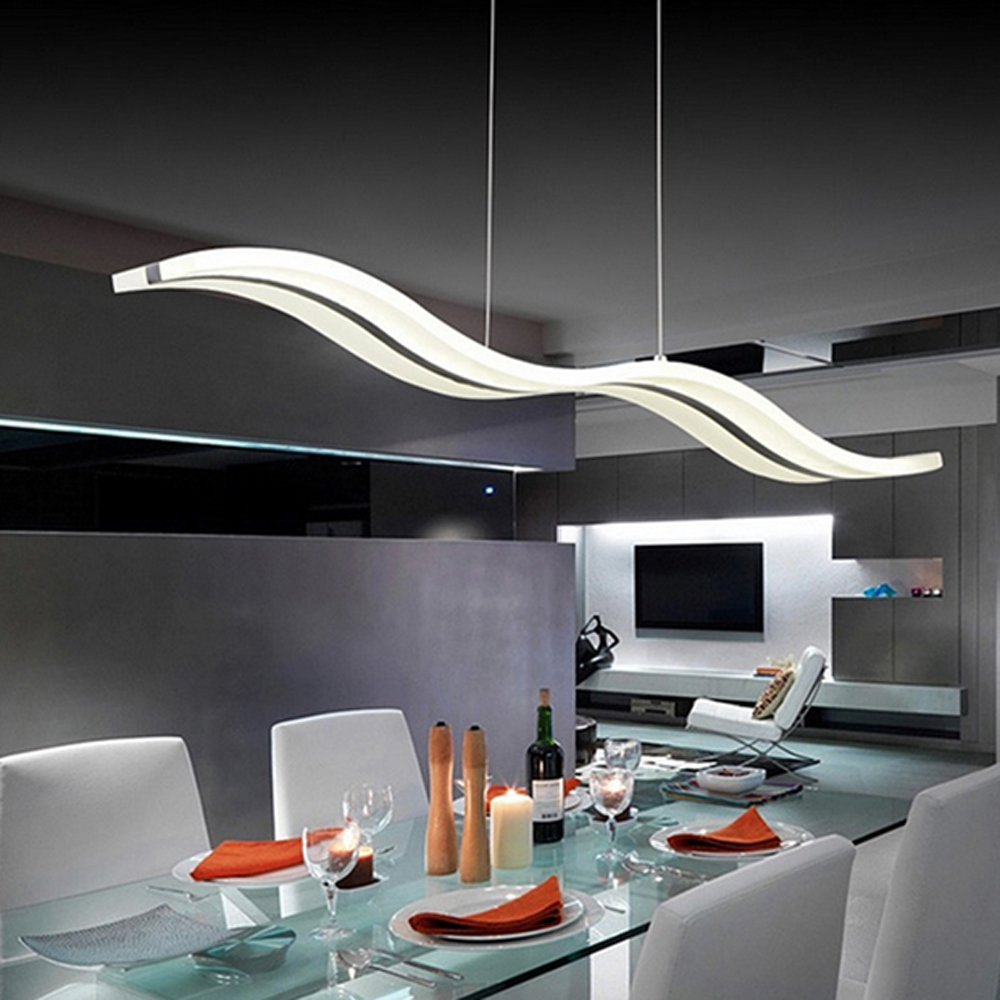 modern led chandelier dining room living room acrylic lamp h