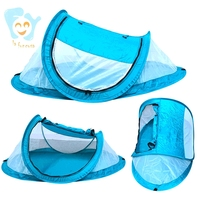 Home Outdoor Use Pop Up Portable Baby Inflatable Beach Tent  Infant Travel Bed with Mosquito Netting