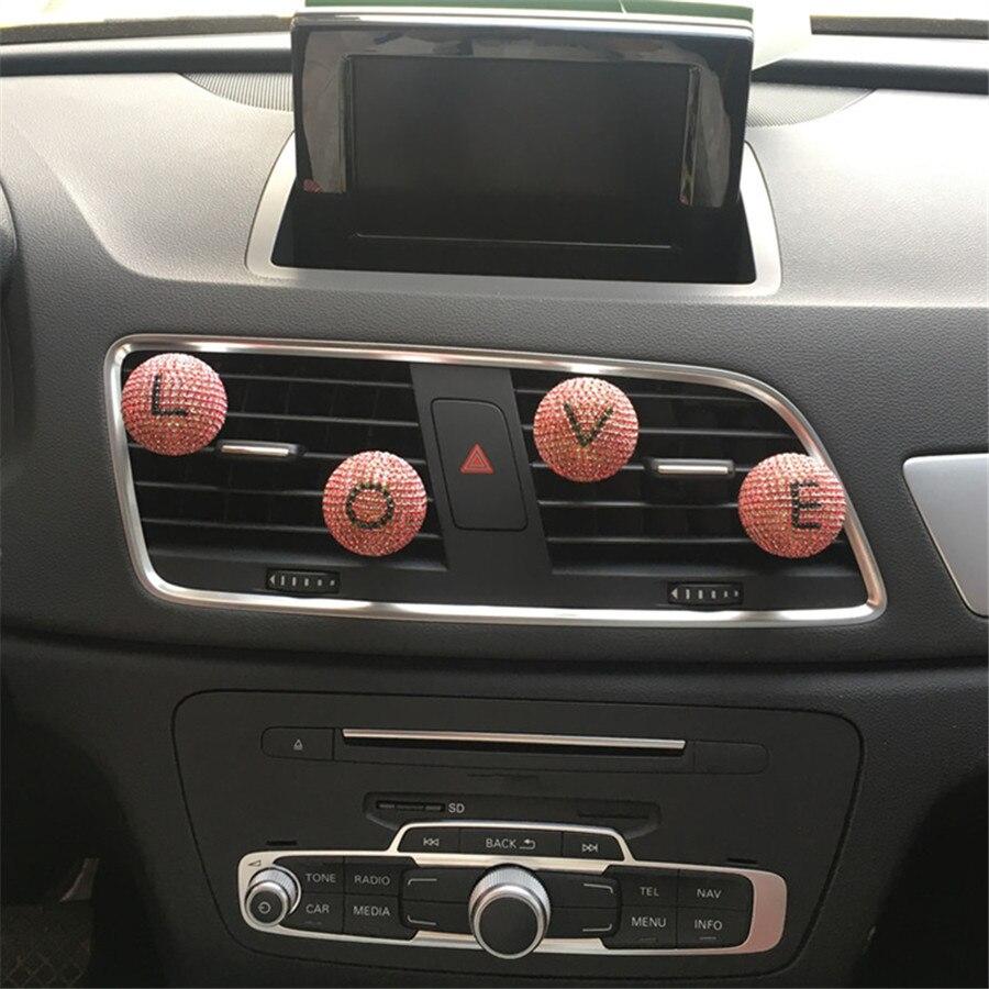 Мяч дизайн кондиционера, выход, духи Любители ЛЮБОВЬ салон Настроить другие Английские буквы Освежитель Воздуха Стайлинга Автомобилей