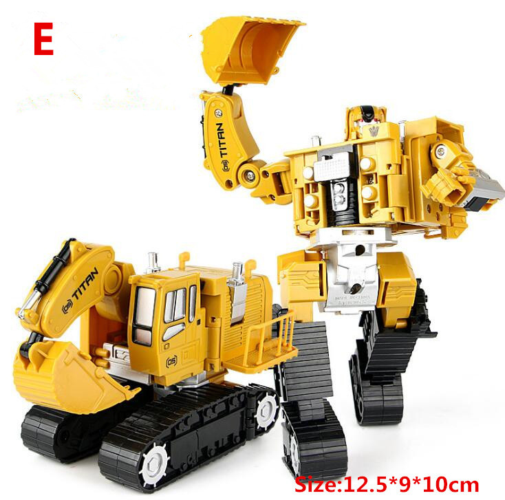 Hot sale Engineering <font><b>Transformation</b></font> Car <font><b>Toy</b></font> <font><b>2</b></font> in 1 Metal Alloy Construction Vehicle Truck Assembly Robot Car Kid <font><b>Toys</b></font> Boys Gift image