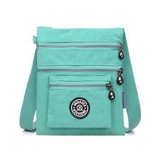 Multilayer Reißverschluss Taschen Wasserdicht Nylongewebe Umhängetasche Umhängetasche für Mädchen
