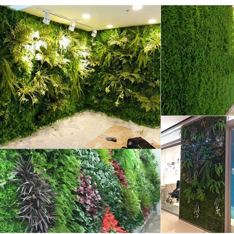 Emulational Ivy Artificial Ivy Leaf Plastic Rolls Wall Landscaping Fake Turf Plant Wall Background Decorations Garden Fence