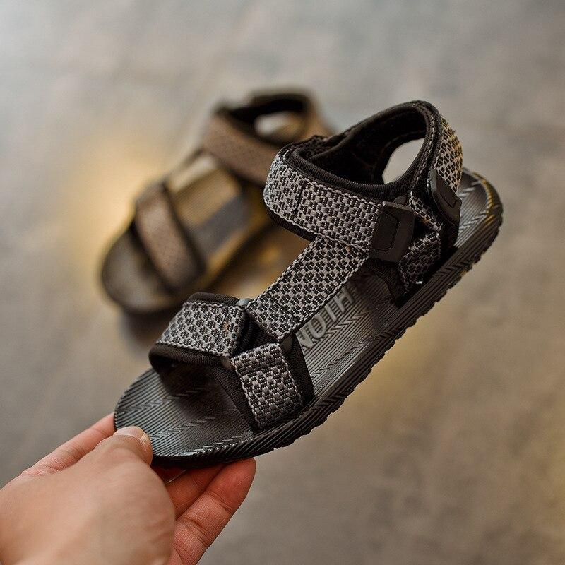 ULKNN 2018 Children Sandals Kids Shoes Boys Beach Sandals Girls Soft Bottom School Weaving Tape Casual Shoes New Summer 2018