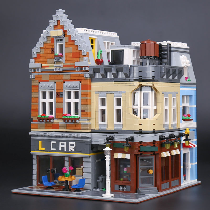 Lepin 15034 4210Pcs Genuine MOC Series City Corner Sets Building Blocks Bricks 10259 Toys Construction Model Gifts lepin 02012 city deepwater exploration vessel 60095 building blocks policeman toys children compatible with lego gift kid sets