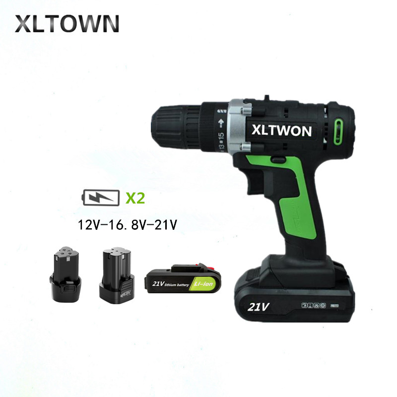 XLTOWN 12/16.8/21v Cordless Drill Multifunction Mini Cordless Screwdriver Rechargeable Lithium Battery Electric Screwdriver cordless screwdriver defort ds 48n lt