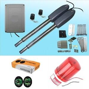 Image 3 - 400kg swing door gate linear actuator motors Kit 2 transmitter with  photocell alarm lamp