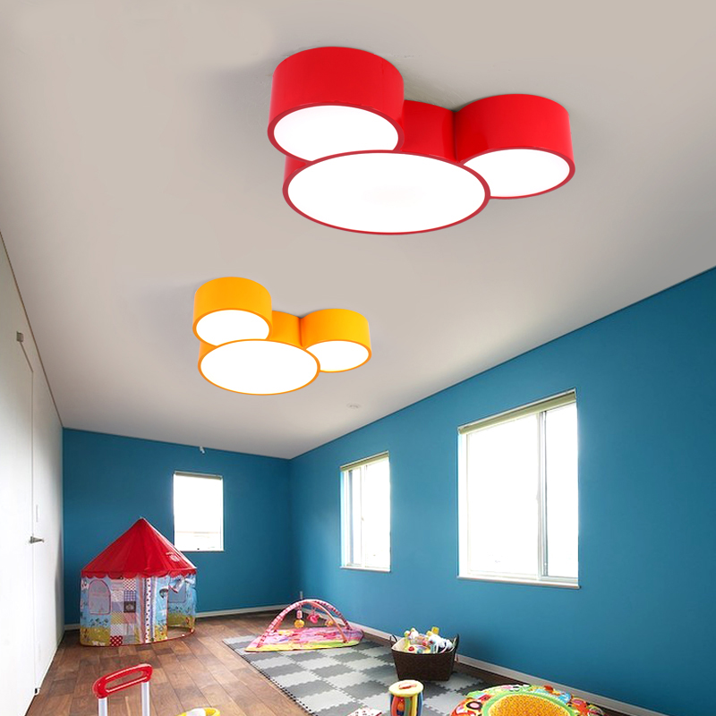 Led Mickey Mouse Children 39 S Bedroom Lamp Kindergarten Color Study Room Led Ceiling Lights