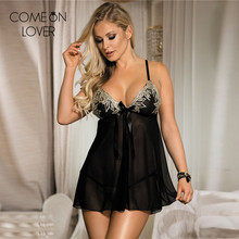RE80409 Comeonlover High quality front open sexy lingerie babydoll plus size lace ropa interior mujer hot sexy lingerie for sex