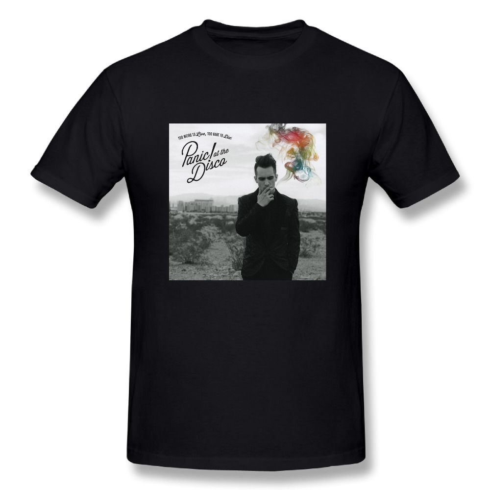 Panic!At The Disco Too Weird To Live,Too Rare To Die Printed T Shirt Mens Cotton Short Sleeve Shirts Tops Tee Custom-Made