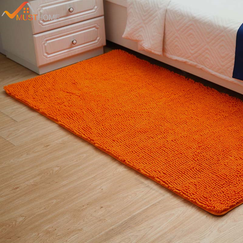50x100cm 19 X39 Microfiber Chenille Area Rug For Bedroom Quickly Absorb Water