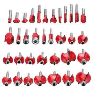 Image 4 - Juego de brocas para enrutador, vástago de 6mm, brocas para Punta de carburo de tungsteno, herramienta para carpintería, 35 piezas
