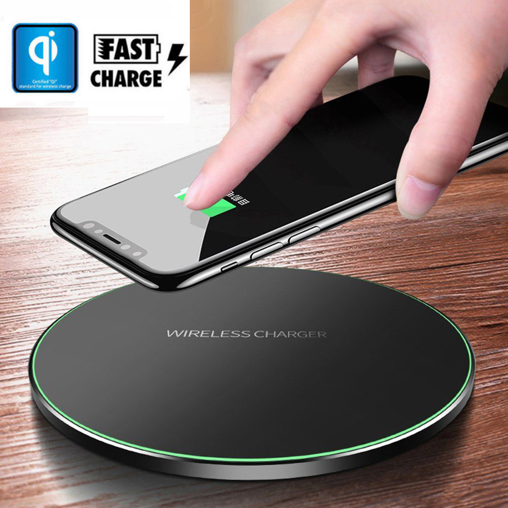 10W Fast Qi Wireless charger for iPhone X/8 Fast Wireless Charging for Samsung Galaxy S9/S9+ S8 Note 8 9 S7 Edge Xiaomi Huawei(China)