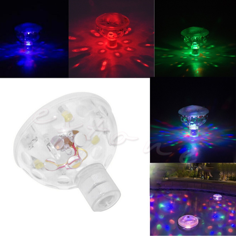 1pc LED Disco Bath Light Show Pool Pond Spa Hot Underwater Colorful ...