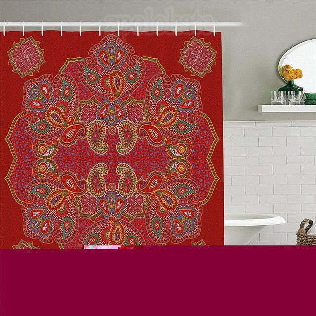 red mandala shower curtain moroccan persian design oriental rh aliexpress com bedroom decor storage ideas bathroom decor stickers